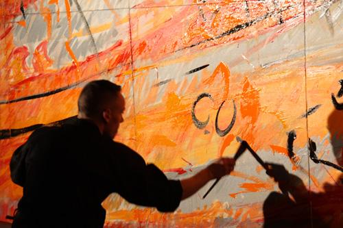 studio irresistible - live - Holmatro - 2009 - performance de peinture - Jérôme Liniger