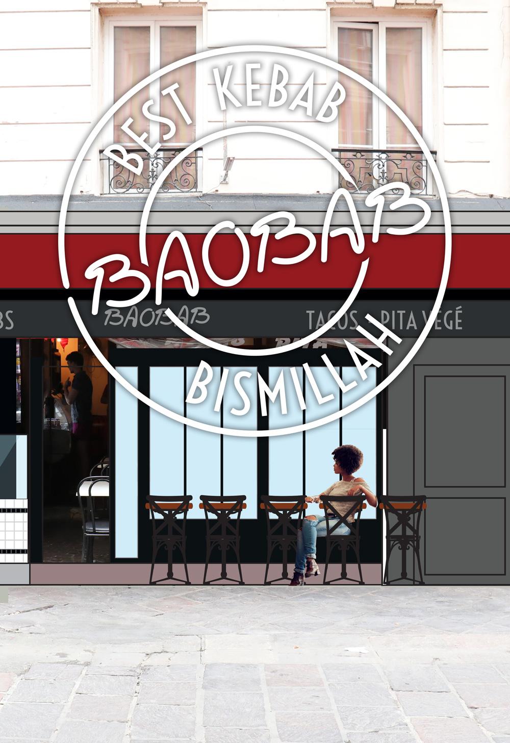 Baobab Pita Kebab Paris Les Halles scénographie design AgenceSi Paris